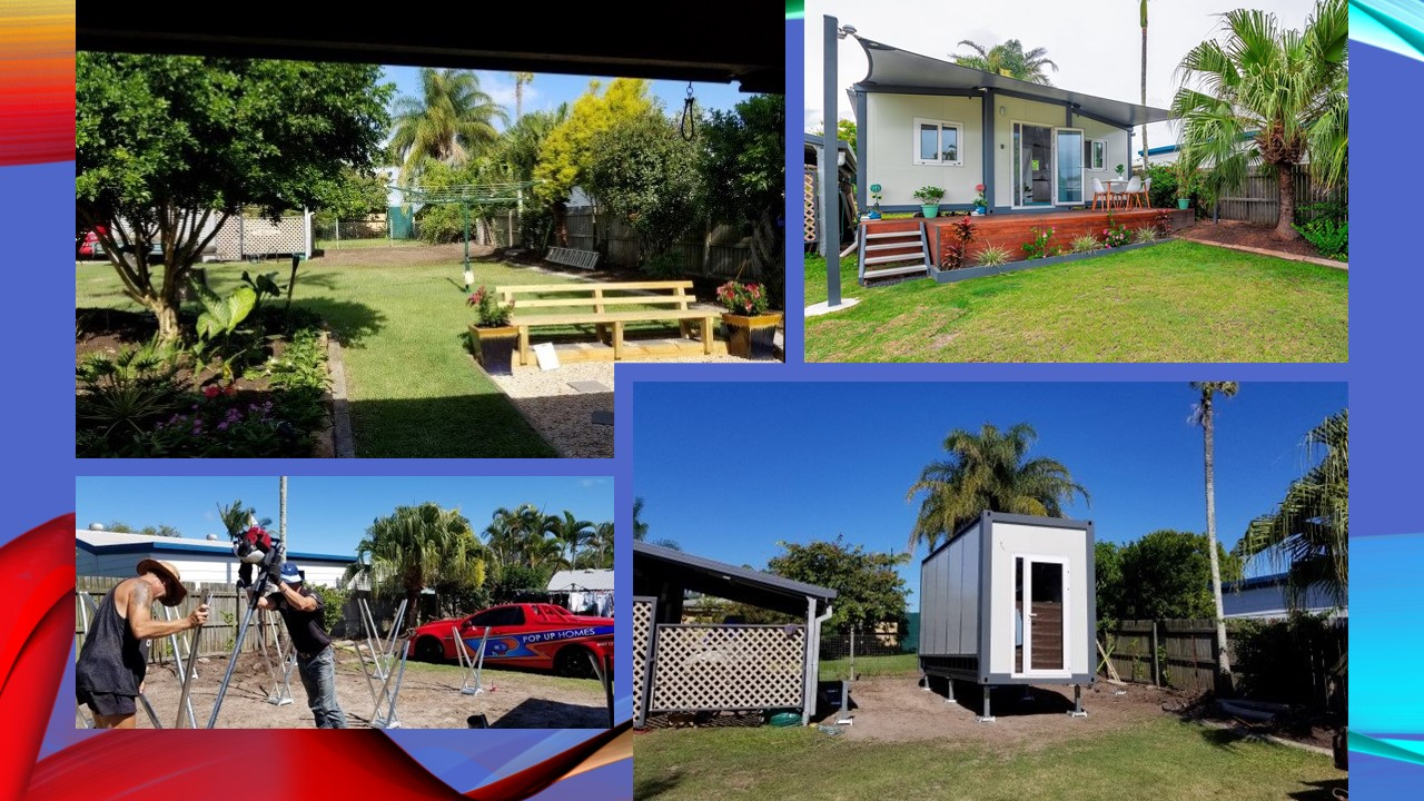 various delivery stages of a Pop Up Home