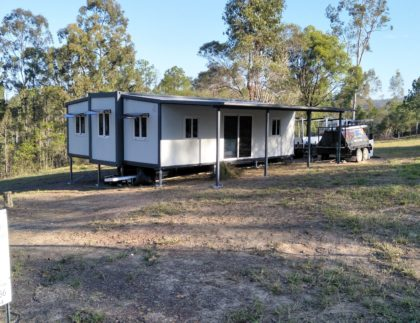 granny flat being built on vacant land