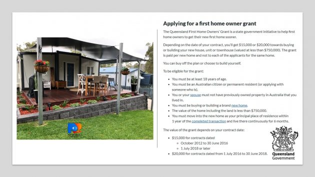 Applying for a Queensland home owner grant for a tiny or small home