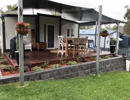 The Fraser 2 Bedroom Granny Flat with deck and shade sail