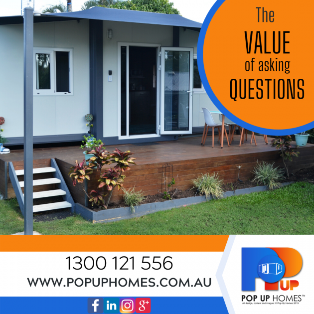 Pop Up Homes Add - The value of asking questions