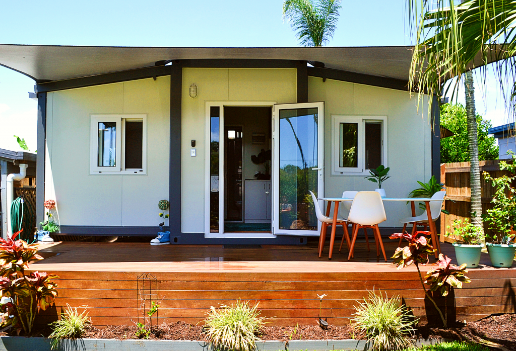 The Keppel 1 Bedroom Granny Flat with shade sail and deck