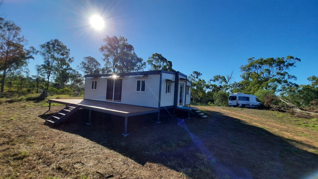 Newly constructed pop up home on vacant acreage land