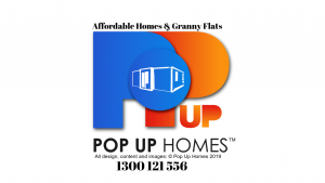 Pop Up Homes Logo and phone number 2019