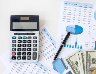 Caclulator money charts