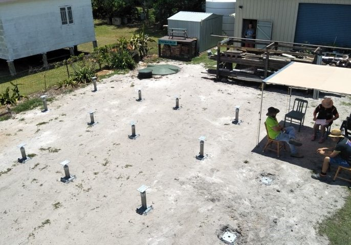granny flat installation footings only installed