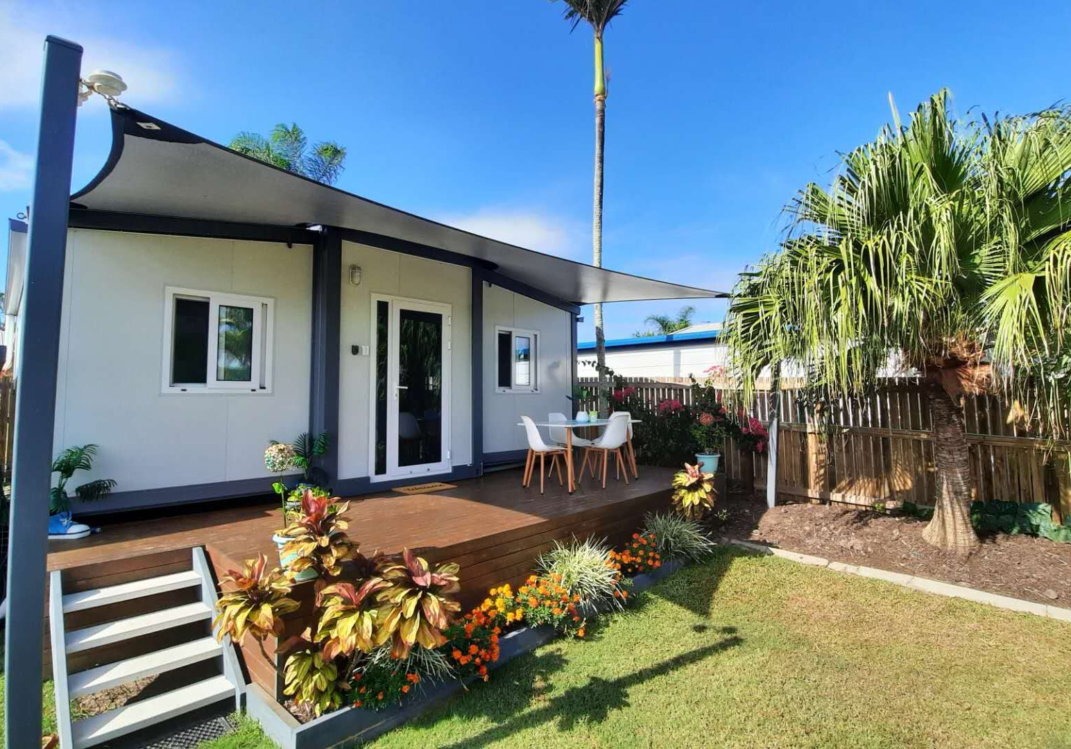 The Keppel 1 Bedroom Granny Flat with Deck and shade sail