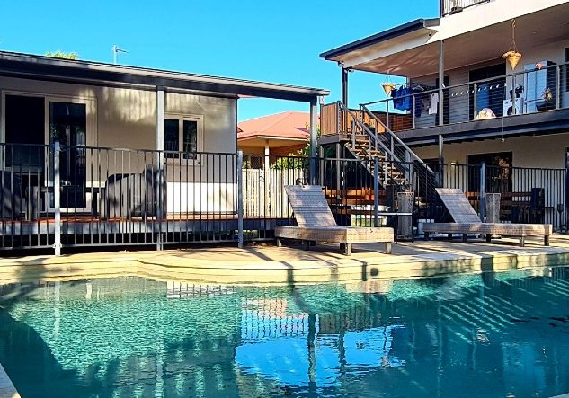 Granny Flat in back yard next to pool